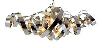 Metal Chandeliers Contorting Chrome Chandeliers Metal L Design