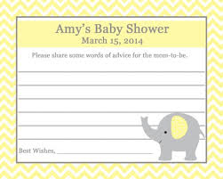advice for the cards 24 baby shower advice cards elephant pictureperfectpartyplace