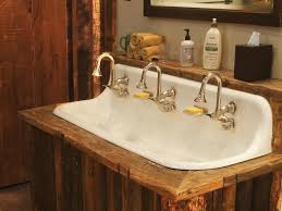 Faucets Sinks Etc Old Rustic Bathrooms Ci Rustic Elegance Cast Iron Sink Three