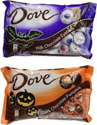 amazon com dove halloween dark chocolate pumpkins and milk