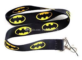 2018 new new polyester batman lanyards movies cartoon key chains