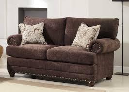 homelegance elena sofa set chocolate chenille u9729 3