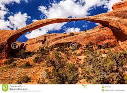 Landscape Rock Utah by Landscape Arch Rock Canyon Arches National Park Moab Utah Royalty