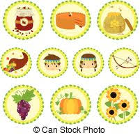 thanksgiving icon set illustrated set of thanksgiving icons