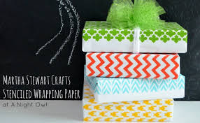 Martha Stewart Craft Paper - diy stenciled wrapping paper with martha stewart crafts a