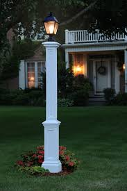 outdoor light pole mount signature l post with ground l mount pipe white l posts