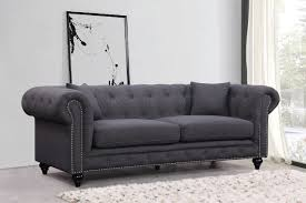 Chesterfield Sofa Price Chesterfield Sofa Grey Linen Buy At Best Price Sohomod