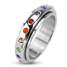 spinner rings spinner ring with rainbow ring jewerly rings