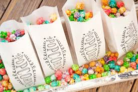 popcorn favor bags popcorn favor wedding or shower favor bags popcorn swirl