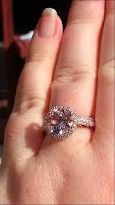 morganite gold engagement ring pink morganite engagement rings peachy pink morganite in diamond