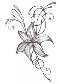 tattoo flower drawings hummingbird flower drawing at getdrawings com free for personal