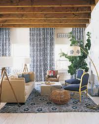 Livingroom Curtain Blue Rooms Martha Stewart