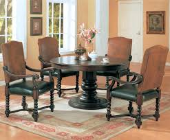 brown leather chairs gray the modern dining room decorated ideas