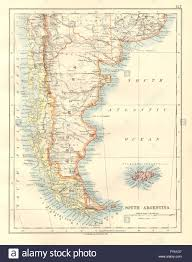 Patagonia South America Map Patagonia Southern Argentina U0026 Chile Falkland Islands Johnston