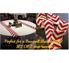 baseball wedding table decorations baseball themed red chevron modern wedding by customhollydavidson