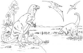 print u0026 download rex dinosaur coloring pages double printable