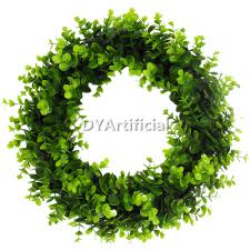 christmas ornaments artificial boxwood hedge wreath dongyi
