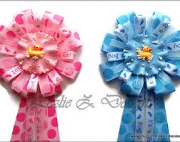 baby shower ribbon check out rubber ducky to be baby shower corsage girl or boy