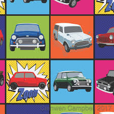 mini cooper inspired gift wrapping paper and tags