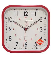 wall watch buy red metal wall clock by opal online contemporary wall clocks