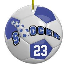 soccer ornaments to personalize personalize soccer blue number zazzlebesties