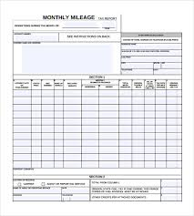 mileage report template monthly mileage report fieldstation co