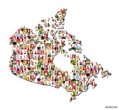 A Map Of Canada by Map Of Canada A Lot Of People Portraits Wall Sticker Wall Stickers