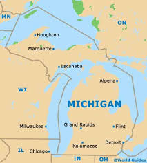 where is detroit in usa map my