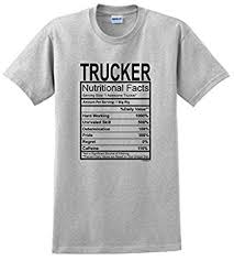trucker truck driver gift nutritional facts t