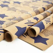 recycled blue brown wrapping paper by