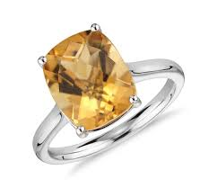 citrine engagement rings citrine cushion cocktail ring in 14k white gold 11x9mm blue nile
