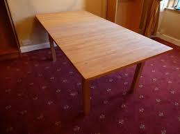 ikea bjorna solid light oak 6 8 seater extending dining table