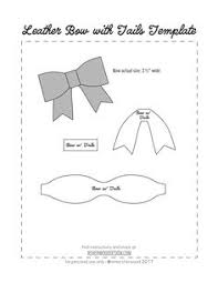 hair bow templates free no sew leather or felt bow template at www