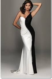 black and white dresses luella matric prom one shoulder black and white dress