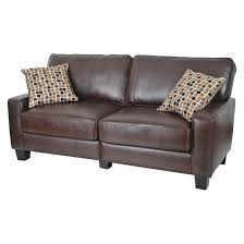Serta RTA Palisades Collection  Sofa In Chestnut Brown - Sofa in leather