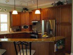 Kitchen Molding Cabinets by Kitchen Oak Kitchen Cabinets With Under Cabinet Lighting And