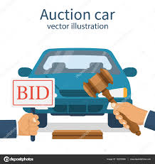 auto bid auction auction car bidding concept â stock vector â threecvet gmail