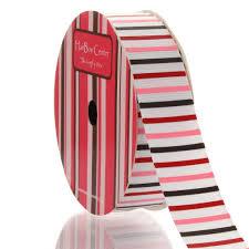 striped grosgrain ribbon 7 8 pink brown stripes grosgrain ribbon
