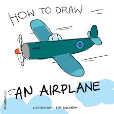 mind the kids how to draw an airplane