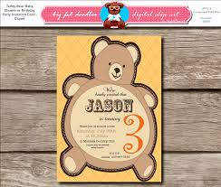 teddy bear baby shower invitations big fat teddy bear baby shower or birthday party invitation brown