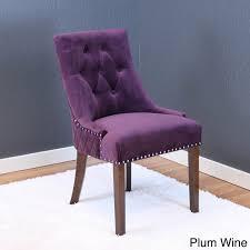 Purple Dining Chairs Lemele Tufted Velvet Dining Chairs Set Of 2 Ebay