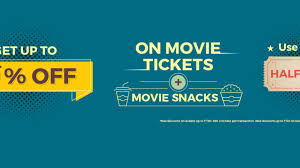 bookmyshow offer bookmyshow get flat 50 off on movie tickets and combos rs 50