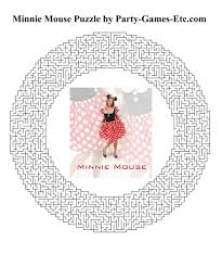 minnie mouse party games free printable games activities