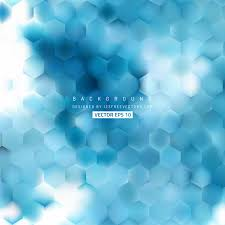 blue hexagon pattern background design 123freevectors