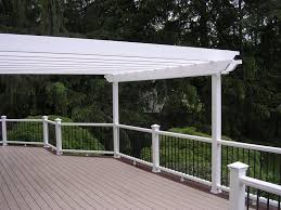 White Vinyl Pergola by 166 Best Pergolas And Roofs Images On Pinterest Pergolas Deck