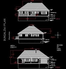 Floor Plan Using Autocad Bungalow Design With Autocad Paulhong1