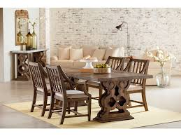 pedestal dining room sets dining room magnolia home double pedestal dining table