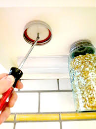 Screws For Kitchen Cabinets by How To Make Hanging Mason Jars For Storage Hgtv
