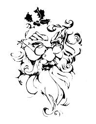 printable santa face coloring book