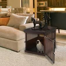 richell wooden dog crate end table color dark brown